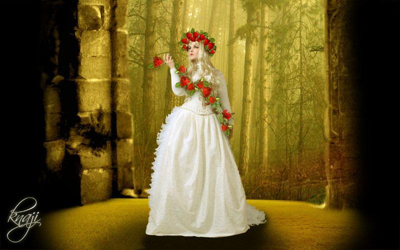 فتاة الورد