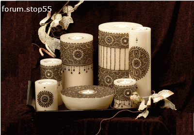 طرق متميزة لتزيين الشموع  اجمل الافكار لتزيين شموع الافراح افكار روعة لتزيين