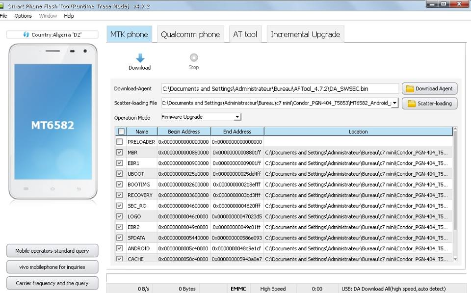AFTool برنامج  لتفليش اجهزة MTK , Qualcomm,