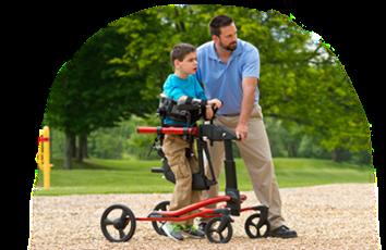 مشاية ريفتون الامريكية لاطفال الإعاقة