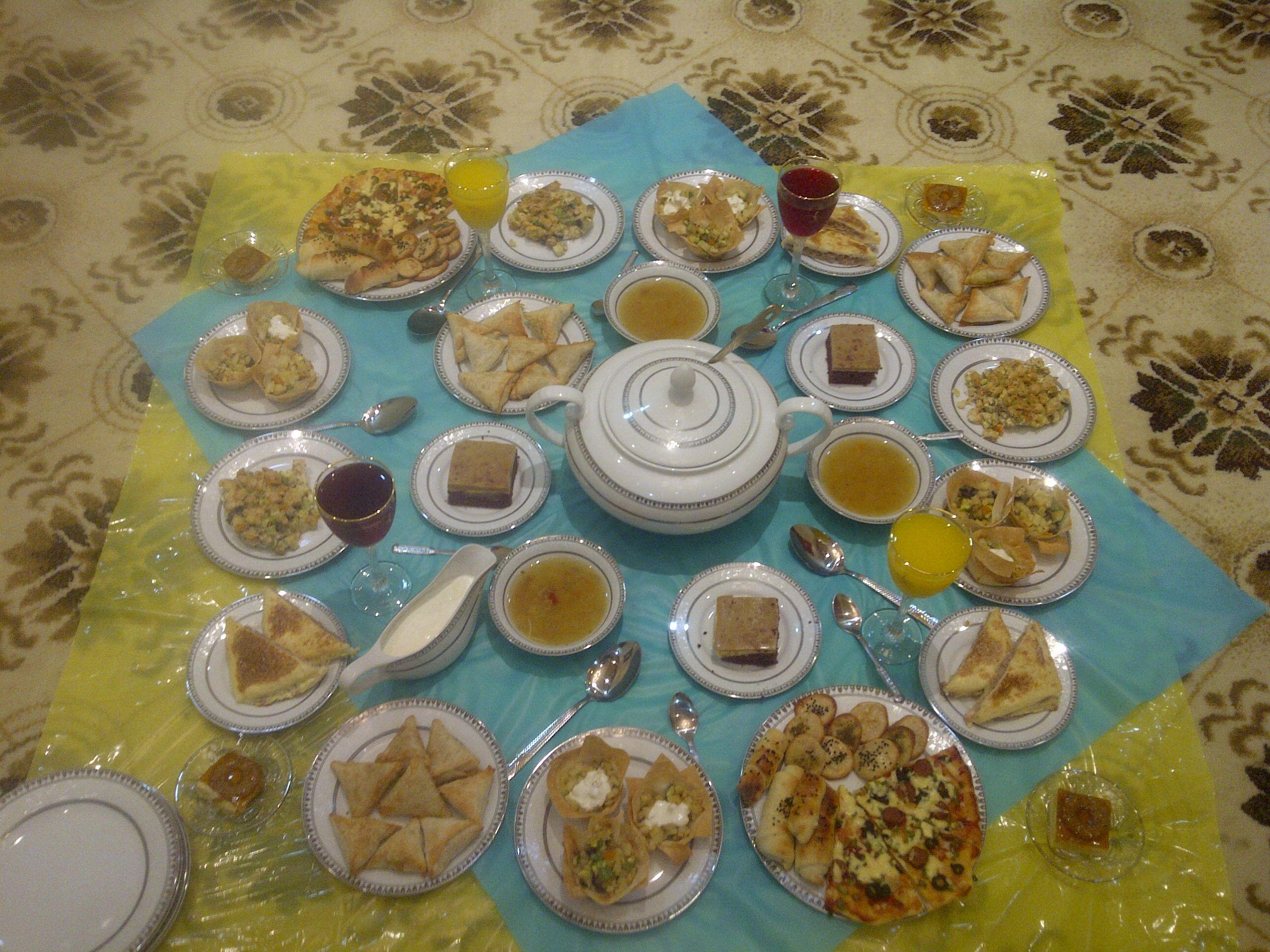 2d0d1f15d1787 اليكم اشكال مختلفة ورائعة من سفرة رمضان 2017
