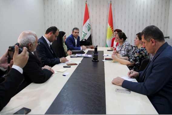 سبل تطوير افاق العلاقات الثنائية بين المجلس الاعلى لشؤون المرأة في اقليم كوردستان
