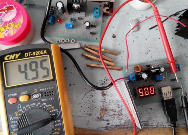 LM2596 switching regulated power supply